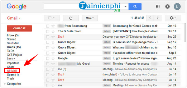 cách khôi phục tin nhắn riêng tư trên gmail