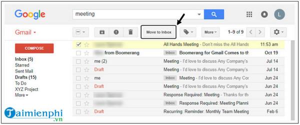 cách khôi phục tin nhắn trên gmail de dang