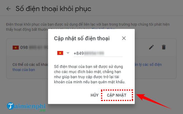 cách đăng nhập gmail bằng số điện thoại 8