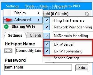 Ở những nơi khác, phiên bản UPnP không chạy