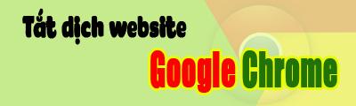 dịch các trang web trên google chrome