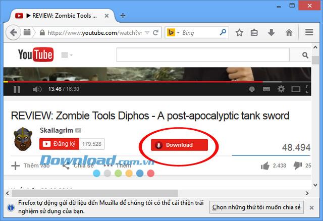 Cách tải xuống video từ YouTube trên Firefox