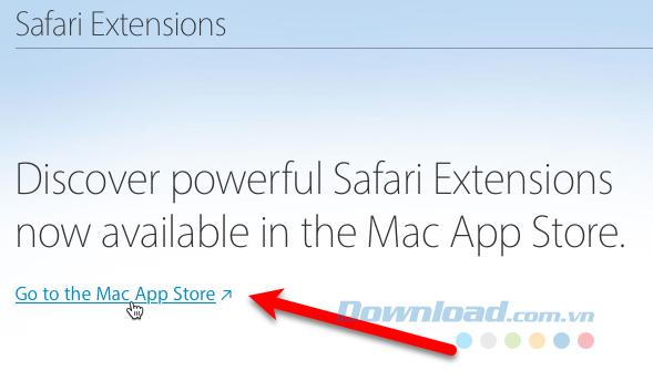 Nhấp vào liên kết Đi tới Mac App Store