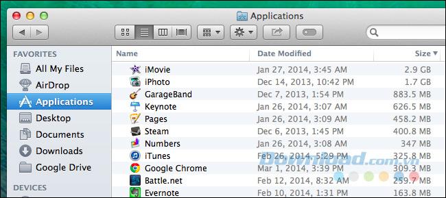Gỡ cài đặt các ứng dụng