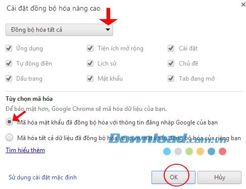 Cách đồng bộ dữ liệu trên trình duyệt Google Chrome