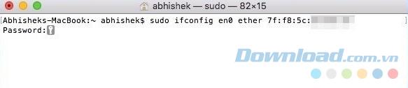 Thay thế MAC bằng địa chỉ MAC mới được tạo