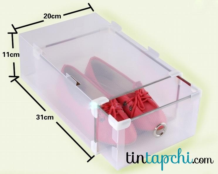 Cấu trúc hộp giày Tiki và size 46K