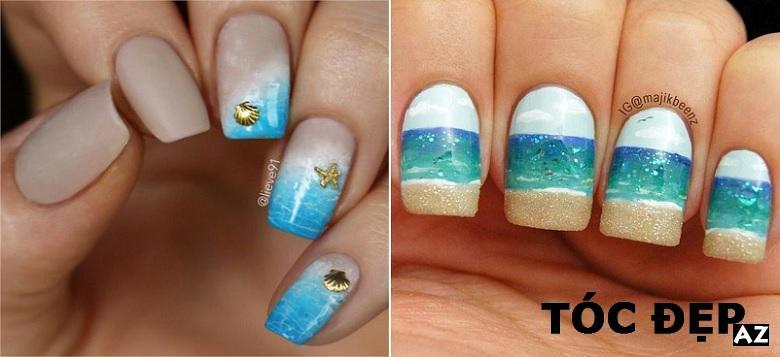 Móng tay đẹp đi biển