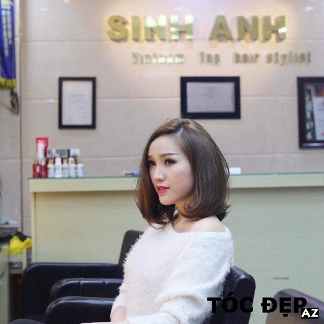 Bao Thy được làm tóc tại Salon Tóc Sinh Anh