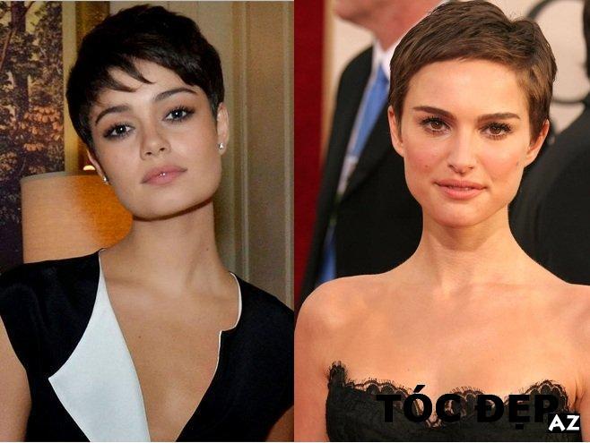 2 kiểu tóc ngắn pixie cho người mặt vuông lớn