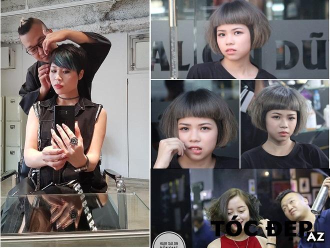 mẫu tóc ngắn đã được cắt tại Dung Hair Salon