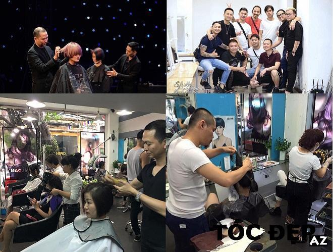 Thợ làm tóc của Tam Loan đang làm tóc cho khách của họ