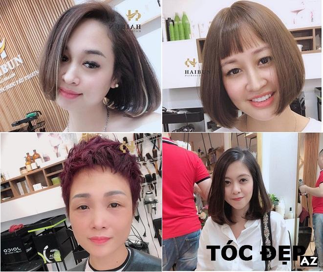 Những kiểu tóc đẹp được cắt và nhuộm tại salon Hai Bun