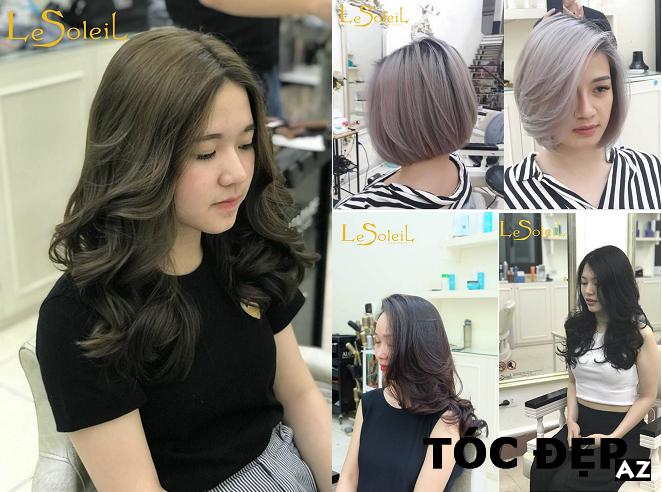 Kiểu tóc đẹp được tạo kiểu tại tóc le Soleil