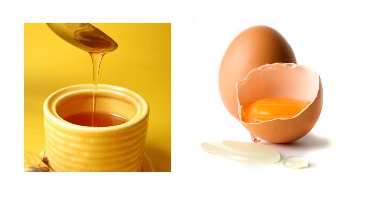 Sử dụng trứng và mật ong.