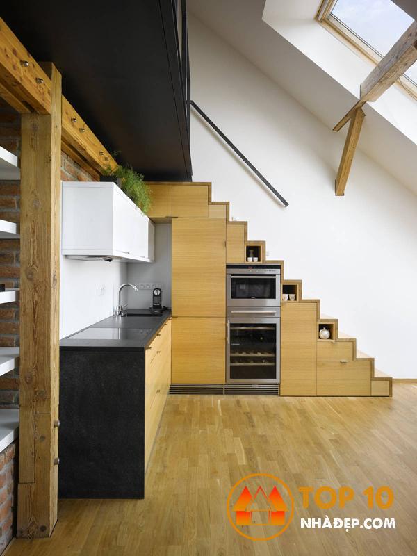 Hơn 100 ý tưởng thiết kế nhà bếp dưới một cầu thang đẹp 18