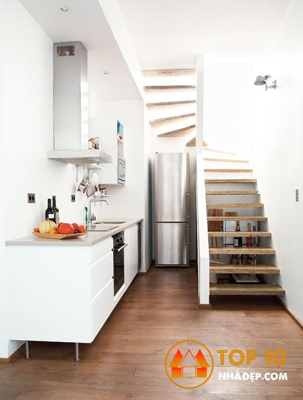 Hơn 100 ý tưởng thiết kế nhà bếp dưới một cầu thang đẹp 25