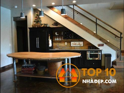 Hơn 100 ý tưởng thiết kế nhà bếp dưới cầu thang đẹp 22