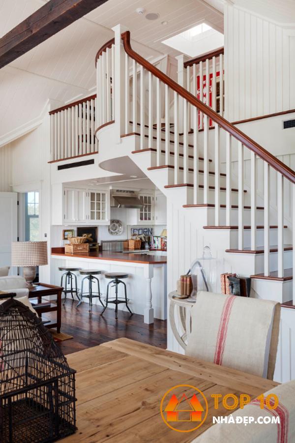 Hơn 100 ý tưởng thiết kế nhà bếp dưới cầu thang đẹp 24