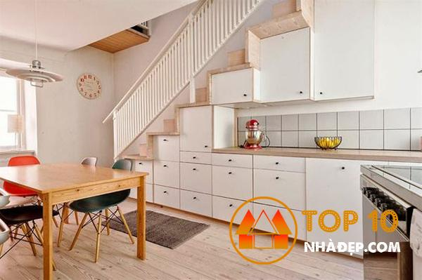 Hơn 100 ý tưởng thiết kế nhà bếp dưới một cầu thang đẹp 30