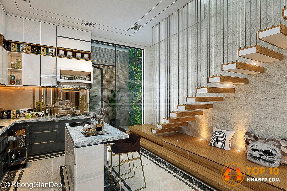 [Review] 100+ Ý tưởng thiết kế nhà bếp dưới gầm cầu thang tuyệt đẹp