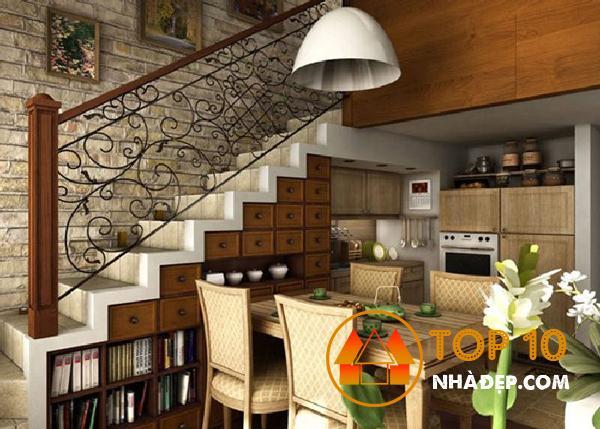 Hơn 100 ý tưởng thiết kế nhà bếp dưới một cầu thang đẹp 13