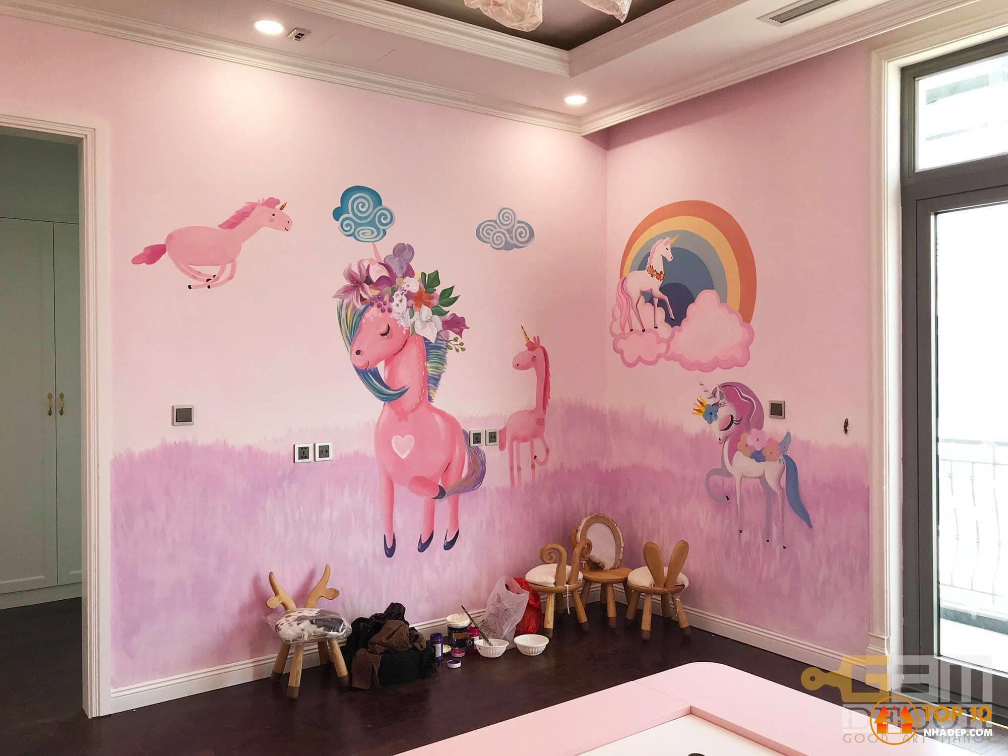 """""""Góc phòng"""" Công trình trang trí vẽ phòng cho bé yêu"""