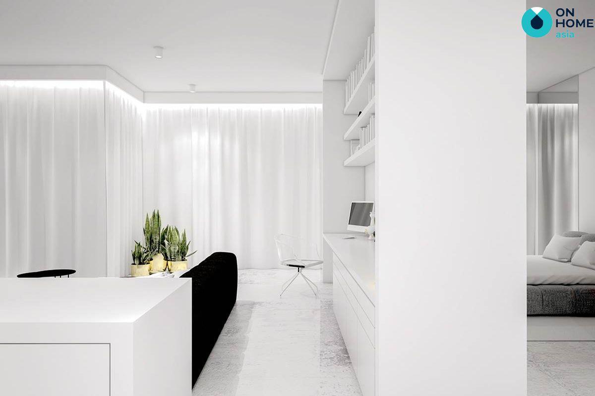 Gam màu không gian nội thất tối giản