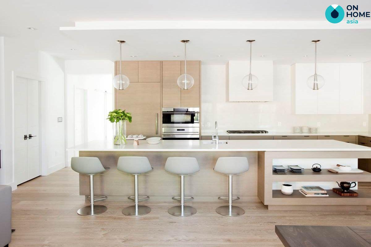 Thiết kế nội thất phòng bếp tối giản