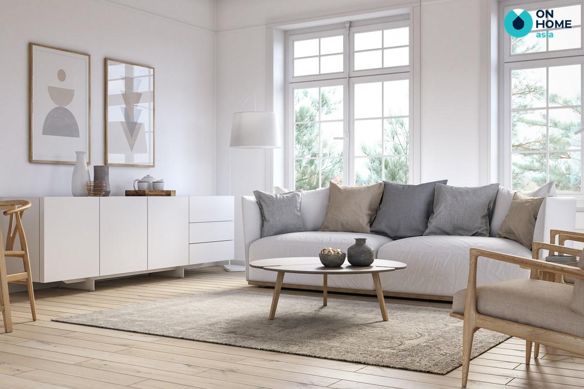 Tỷ lệ không gian nội thất phòng khách tinh tế