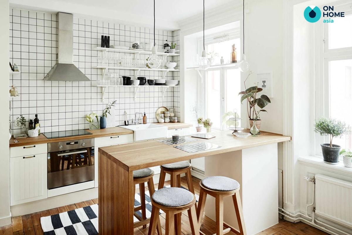 Tỷ lệ không gian bếp