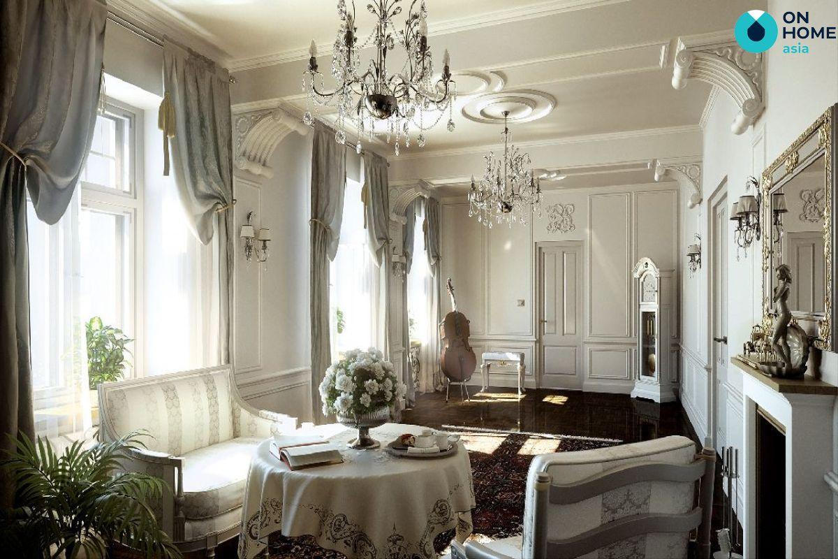 Màu cổ điển trong thiết kế nội thất