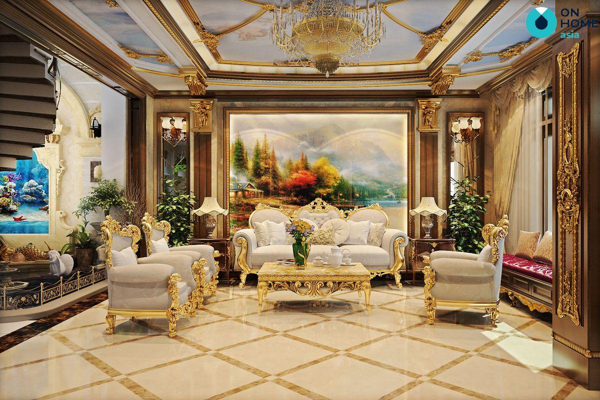 Màu phòng khách cổ điển