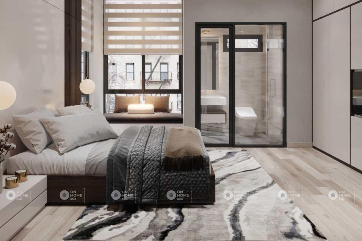 Thiết kế phòng ngủ nhà phố tiện nghi
