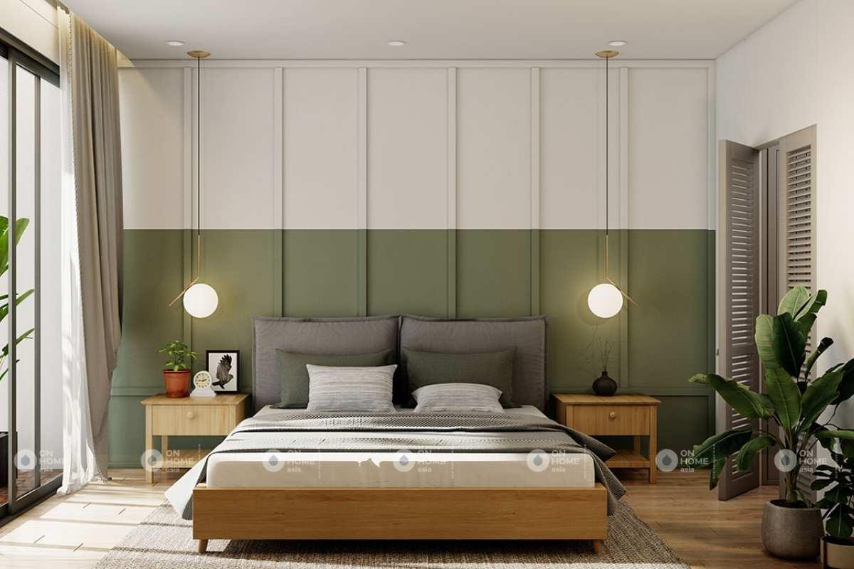 Nội thất phòng ngủ chính tiện nghi