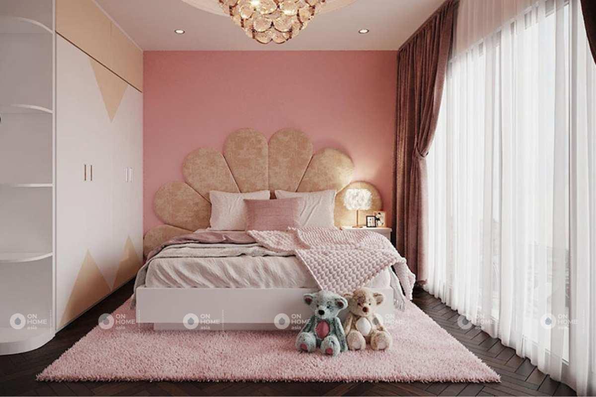 Nội thất nhà phố có phòng ngủ con gái
