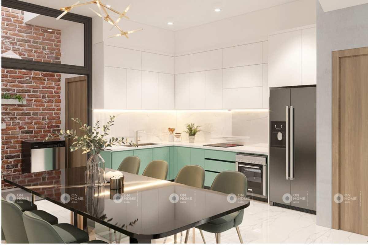 Phòng bếp của thiết kế nội thất nhà phố hiện đại