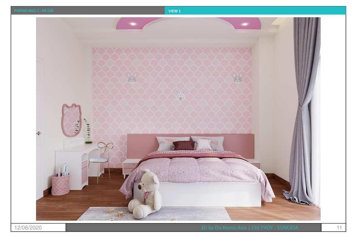 Nội thất phòng ngủ cho bé với gam màu hồng ngọt ngào