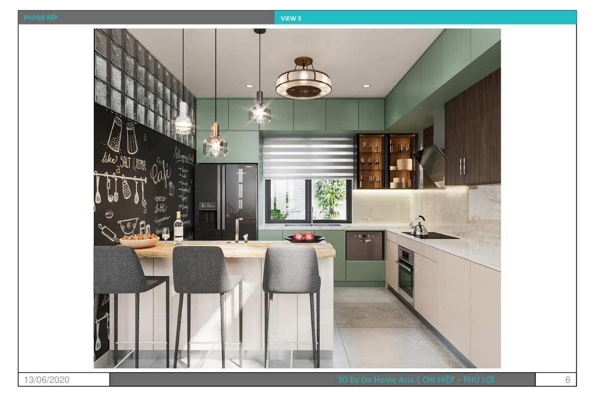 Nội thất phòng bếp và nhà ống trang nhã