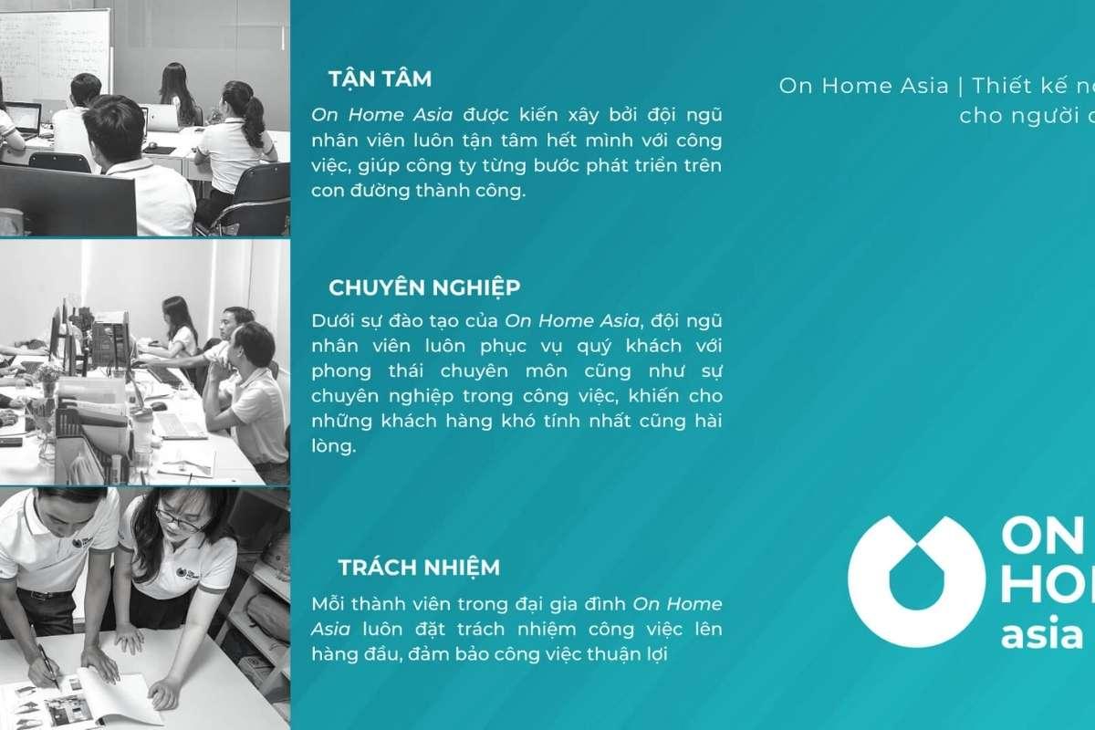 On Home Á là công ty thiết kế nội thất nhà phố