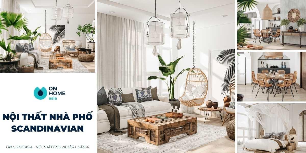 thiết kế nội thất nhà phố theo phong cách scandinavian