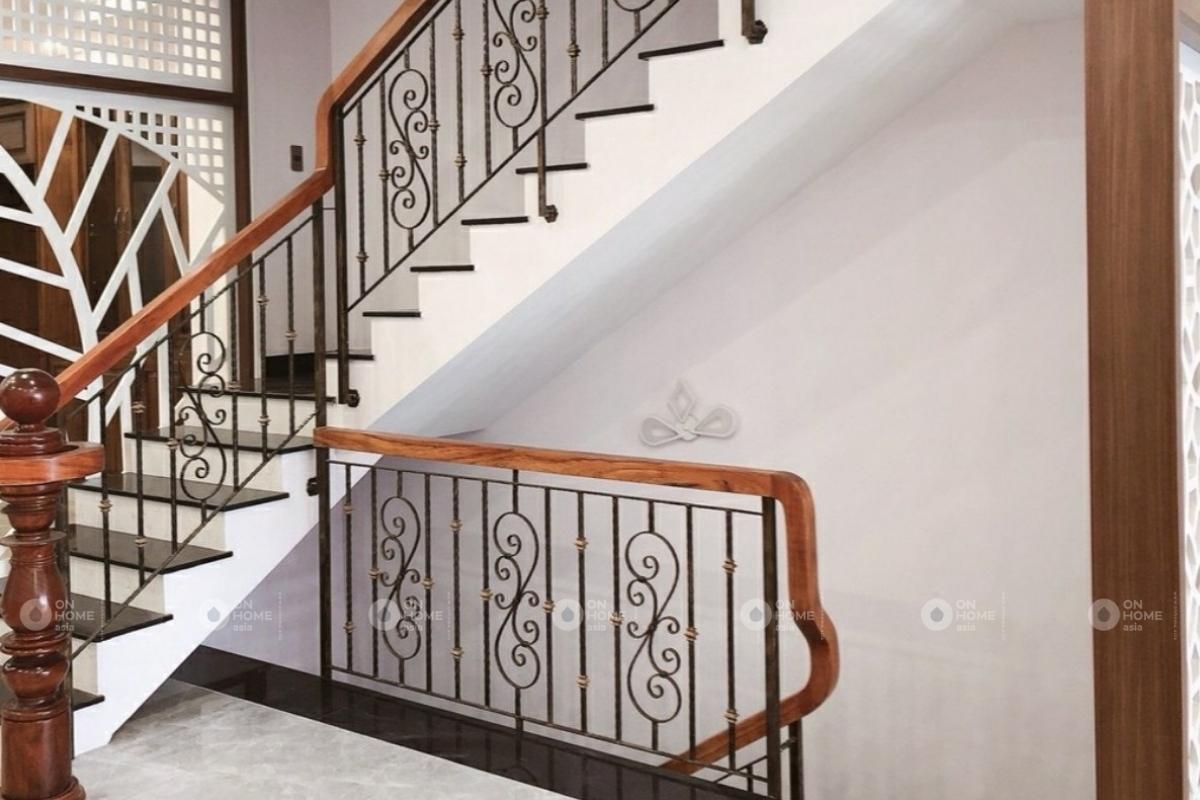 cầu thang nhà phố mẫu