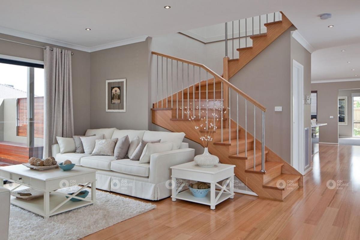 Cầu thang gỗ hiện đại