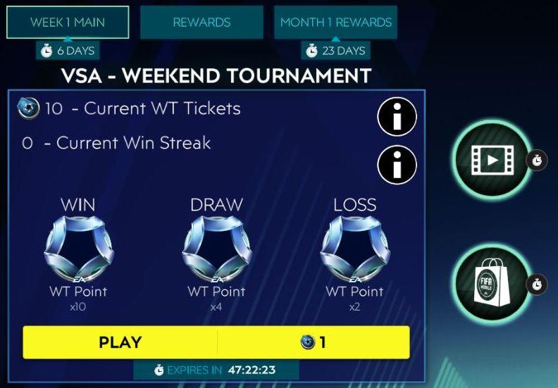 1596214813 564 Hướng dẫn giải đấu cuối tuần FIFA Mobile 20