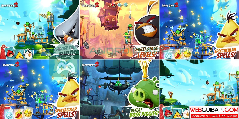 Angry Birds 2 - Cánh Chim Thiện xạ bản MOD APK (hack full tiền) - WebCuiBap