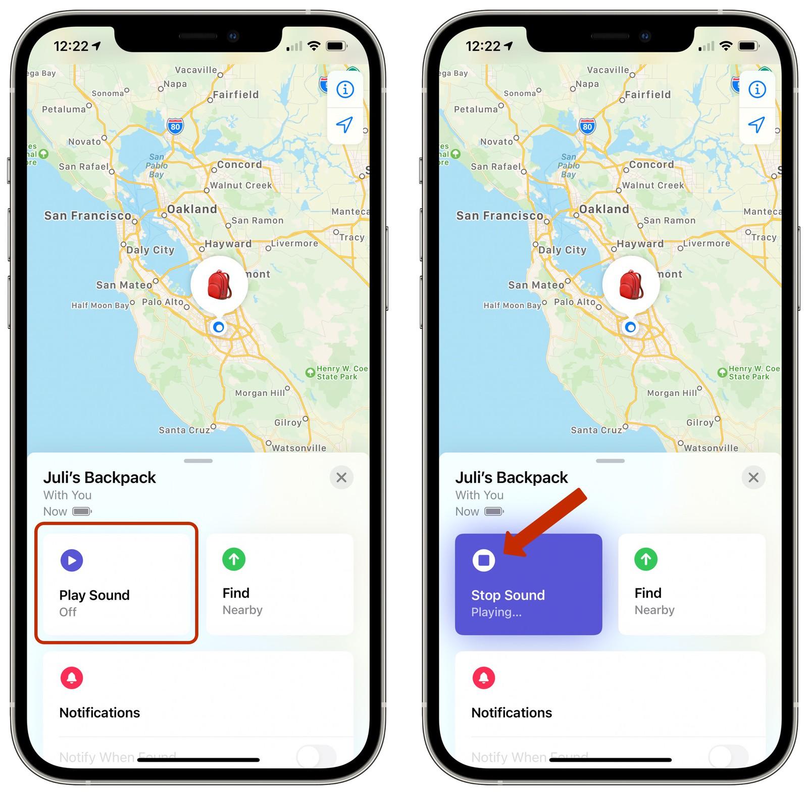 Cách xác định vị trí AirTag trong ứng dụng Tìm của tôi trên iPhone 8