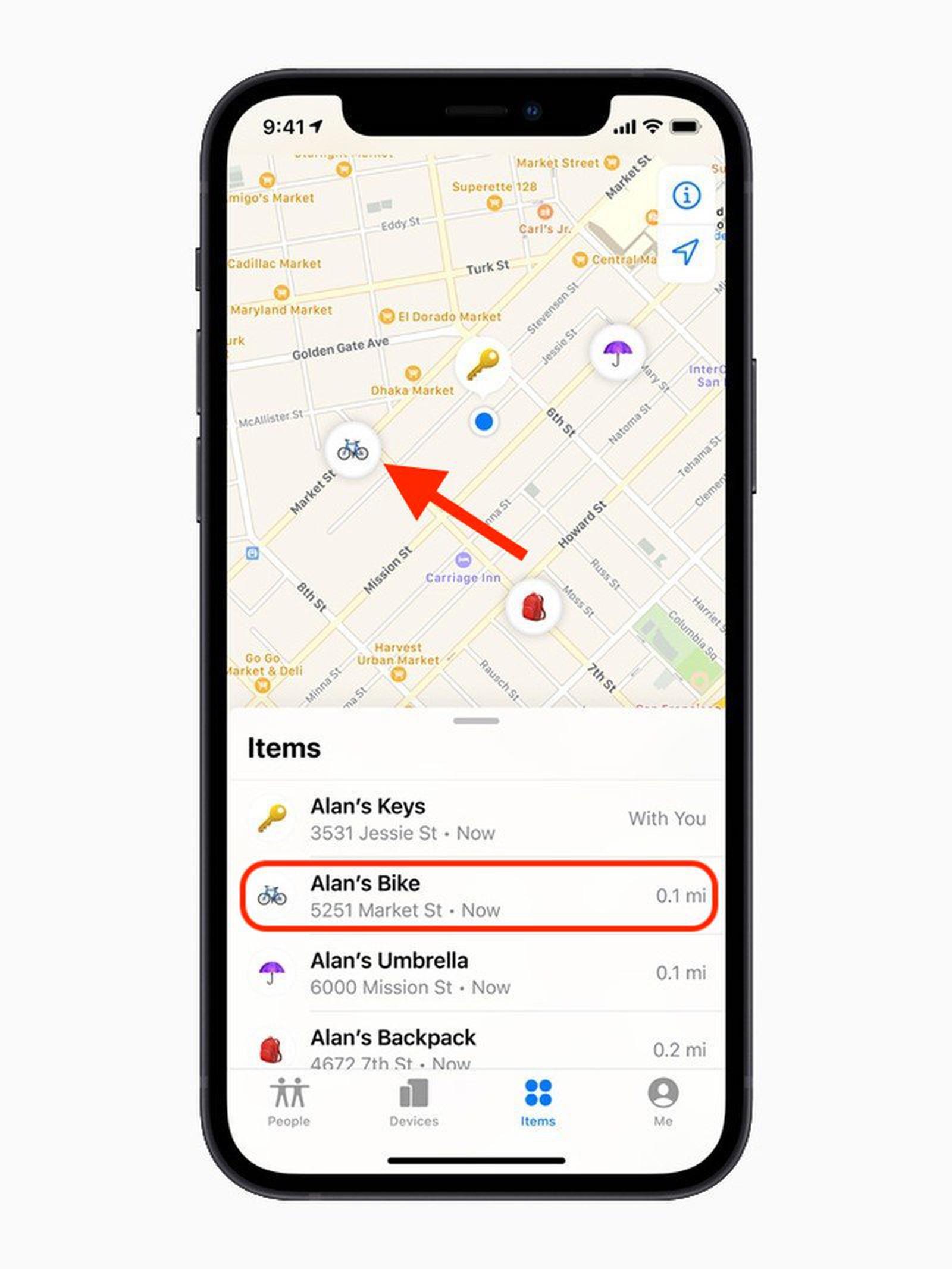 Cách xác định vị trí AirTag trong ứng dụng Tìm của tôi trên iPhone 7