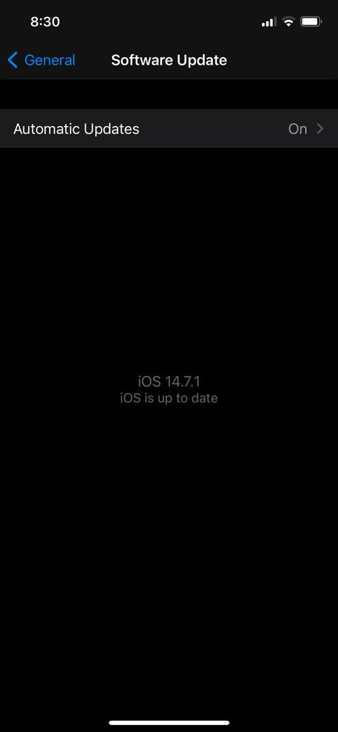 Bật cập nhật iOS tự động