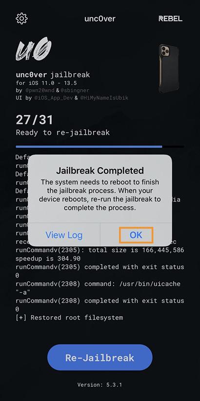 Cách gỡ bỏ jailbreak un0ver mà không cần khôi phục thiết bị