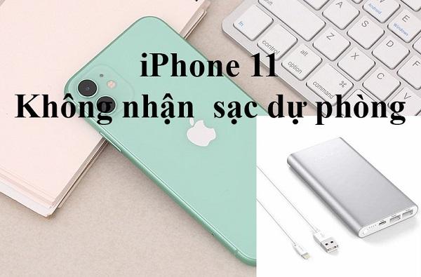 Điện thoại iPhone 11 không nhận pin dự phòng